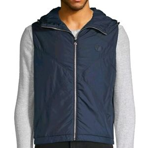 NWT$995 Versace Collection Down Hooded Jacket Vest